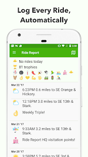 Ride Report Fitness app screenshot for Android