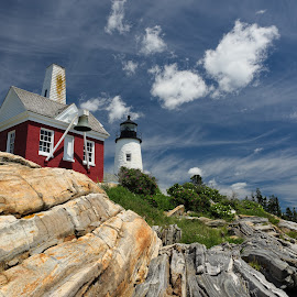 Pemaquid Point Light by Tim Devine - Buildings & Architecture Public & Historical ( maine, lighthouse, pemaquid point lighthouse, coast )