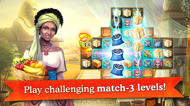 Cradle of Empires Match-3 Game Screenshot 0
