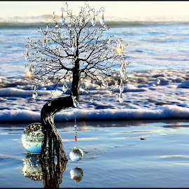 Glass Tree by Judith Ncapayi - Artistic Objects Glass ( glass. crystals. beach. balls. )
