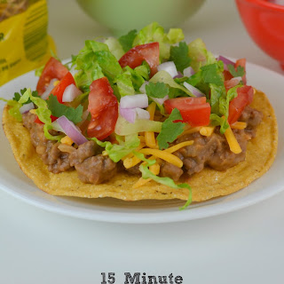15 Minute Ground Beef and Bean Tostadas