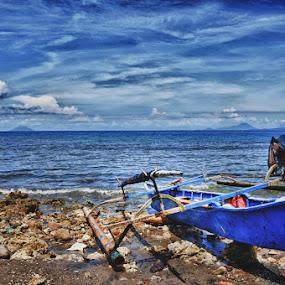 Unoccupied Boat by Yoesrianto Tahir - City,  Street & Park  Vistas ( halmahera, boat )