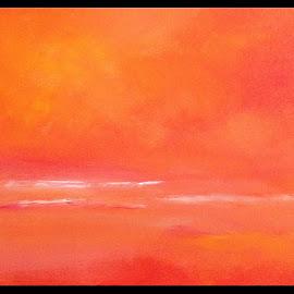 Avondlicht op het water by Kris Van den Bossche - Painting All Painting