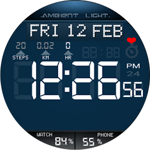 Ambient Light  Watch Face Full