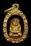 พระสังกัจจายน์ อยุธยา เนือทองคำ พรอมเลี่ยมทองคำ หนักรวม 9.53 กรัม สภาพสวย