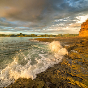wet feet  by Annette Flottwell - Landscapes Beaches ( junquillal, roca, guanacaste, playa, beach, punta calavera )