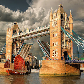 Tower Bridge by Nick Moulds - City,  Street & Park  Vistas ( open, england, thames, london, tower bridge )