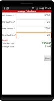 Screenshot of Stock Market Calculator