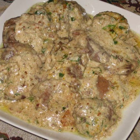 Chicken Liver In Walnut-garlic Sauce