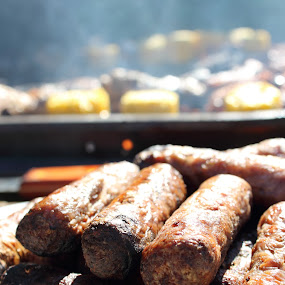 BBQ by Kelly Lippitt - Food & Drink Plated Food ( macro, sausages, food, bbq, cooked )