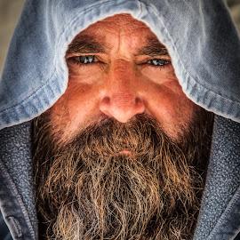 Intensity by George Petropoulos - People Portraits of Men ( #portrait, #portraiture, #blueeyes, #beardporn, #beard, #artist )