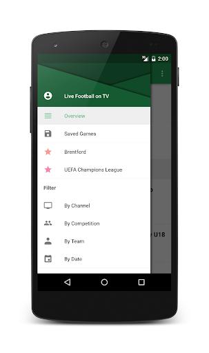 Live Football On TV - screenshot