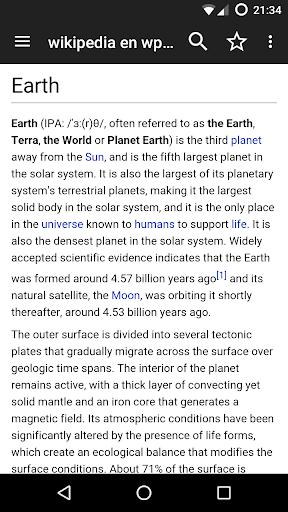 Kiwix, Wikipedia offline screenshot 2