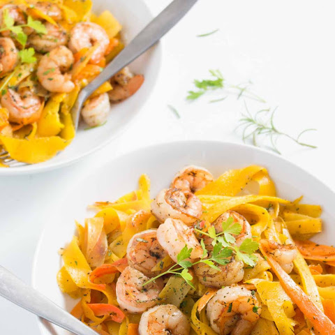 Scarborough Fair Carrot Ribbons with Shrimp