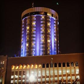 Purple Building by Suzette Christianson - Buildings & Architecture Architectural Detail (  )
