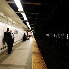 The other side by Sebastian Weisshaar - Travel Locations Subway ( contrast, sony, dar-light, new york, ny )