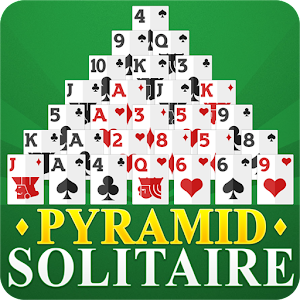 Free Pyramid Solitaire Card Game for Android phones and tablets. APK Icon