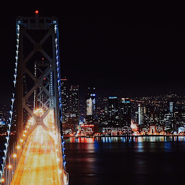 East Bay Bridge  by Ercan Genis - Buildings & Architecture Bridges & Suspended Structures ( sanfrancisco, bridge, eastbay, longexposure, bayarea, downtown )