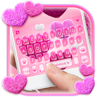 Valentine Plush Heart Keyboard Theme For PC / Windows / MAC
