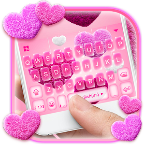 Valentine Plush Heart Keyboard Theme