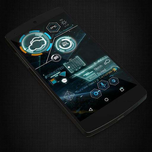 KLWP 2 Themes Futuristic - screenshot