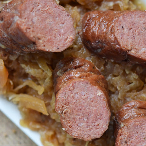 Crockpot German Sauerkraut with Brats