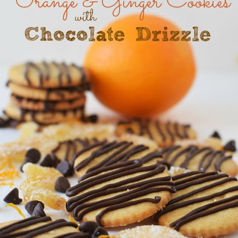 Orange & Ginger Cookies with Chocolate Drizzle
