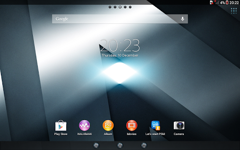 XPERIA™ Reality Theme Screenshot