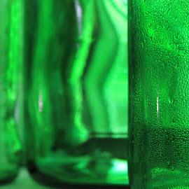 tanqueray sweats by Rachel Seitz - Artistic Objects Glass ( green glass, alcohol, glass, tanqueray, sweat, prism )