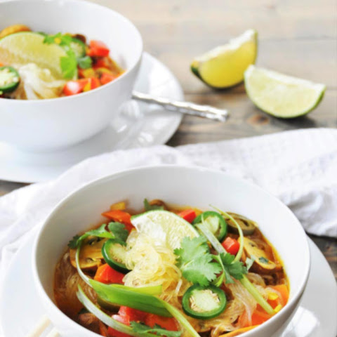 Asian Vegetable & Glass Noodle Soup