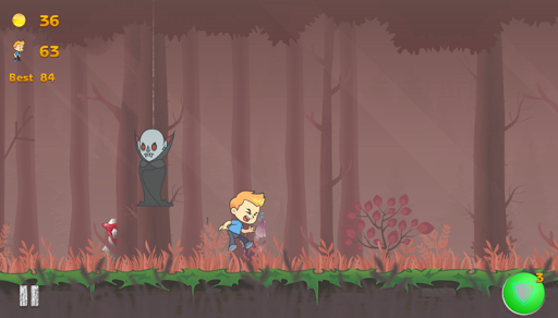 Lost Boy in wood - screenshot