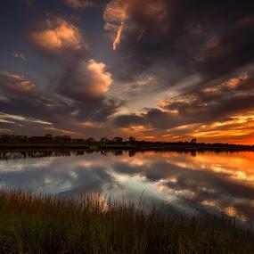 Nuclear by Linda Karlin - Landscapes Sunsets & Sunrises ( sunset, landscape )
