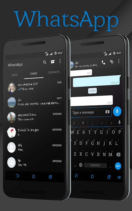 Sense Black/Blue cm13 theme Screenshot 8