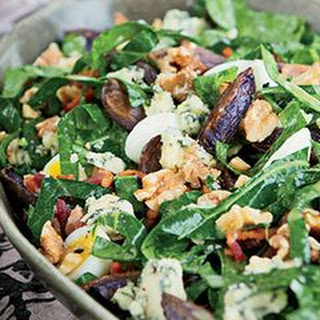 Collard Greens, Blue Potato, and Bacon Salad