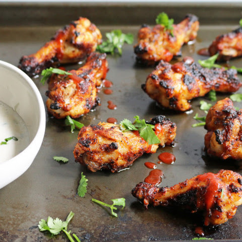 Sriracha Chicken Wings + Creamy Ranch Dressing