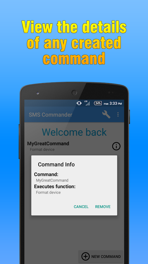 SMS Commander Screenshot 2