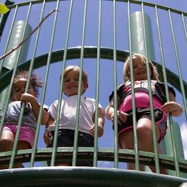At the Playground by Kim Tindol - Babies & Children Children Candids