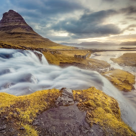 Kirkjufellfoss by Jon-Eirik Boholm - Landscapes Waterscapes