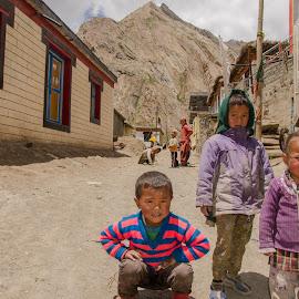 Mountain gods by Tamal Das - Babies & Children Children Candids ( village, children, himalayas )