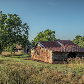 Down On The Farm by Roy Walter - Buildings & Architecture Decaying & Abandoned ( old, barn, rust, morning, abandoned )