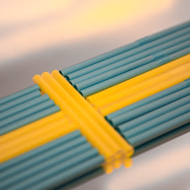 Straw-Swedish flag by Marcus Schanberg - Abstract Patterns ( #swedishflag, flags, flag, #sweden, color, straw, colors )