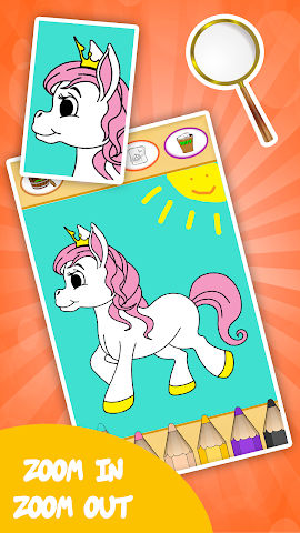 android Unicorn coloring book for kids Screenshot 5