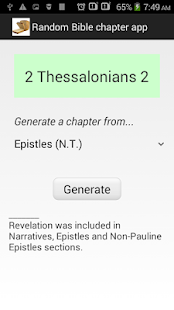 Random Bible Chapter Generator - screenshot