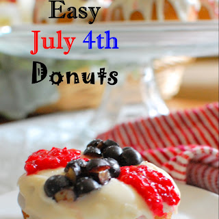 Easy July 4th Donuts