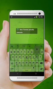 Green planes TouchPal Skin - screenshot
