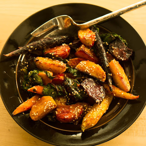 Orange Miso Glazed Beets & Carrots