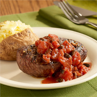 Grilled Steaks with Italian Tomato Topper