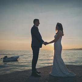 by Zeljko Marcina - Wedding Bride & Groom ( croatia, bride, love, groom, split, seaside, wedding, sea )