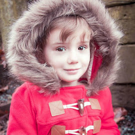 Fur hood by Jenny Hammer - Babies & Children Child Portraits ( coat, fur, girl, hood, cute, child )