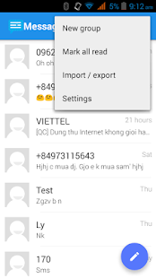 Messaging SMS- screenshot thumbnail